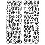 KI Memories - Embellishment Boutique - Alphabet Glitter Stickers - Cookie Cutter - Black, CLEARANCE