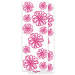 KI Memories - Embellishment Boutique - Glitter Stickers - Brushed Flowers - Pink, CLEARANCE