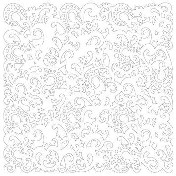 KI Memories - Glitter Lace Cardstock - Twirl White, BRAND NEW