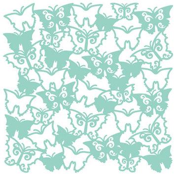 KI Memories - Glitter Lace Cardstock - Flutter Breeze, CLEARANCE
