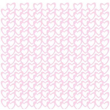 KI Memories - Glitter Lace Cardstock - Hearts Cotton Candy, CLEARANCE