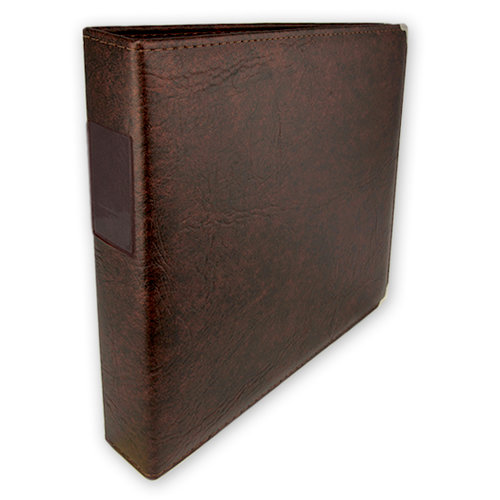 Umbrella Crafts - 3 Ring Memory Albums - 12 x 12 - Walnut