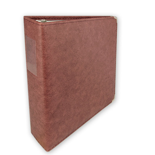 Umbrella Crafts - 3 Ring Memory Albums - 8.5 x 11 - Antique Rose