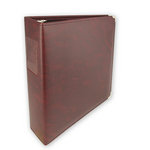 Umbrella Crafts - 3 Ring Memory Albums - 8.5 x 11 - Burgundy Diablo