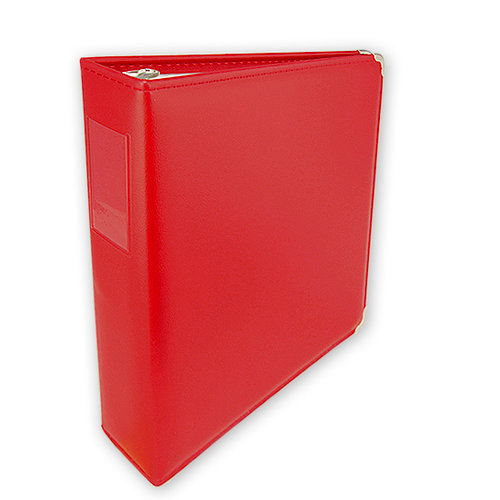 Umbrella Crafts - 3 Ring Memory Albums - 8.5x11 - Fire Engine Red
