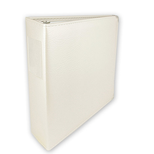 Keeping Memories Alive - 3 Ring Memory Albums - 8.5x11 - Pearl White