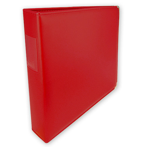 Umbrella Crafts - 3 Ring Memory Albums - 12x12 - Fire Engine Red