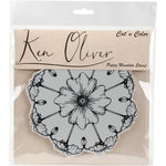 Ken Oliver - Cut 'n Color - Unmounted Rubber Stamps - Poppy Mandala