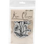 Ken Oliver - Cut 'n Color - Unmounted Rubber Stamps - Poppy Flower