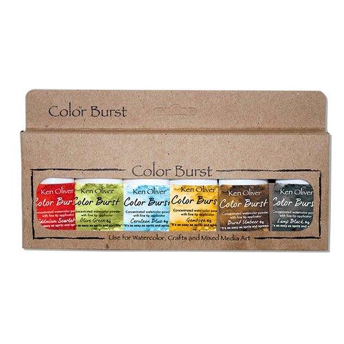 Ken Oliver - Color Burst - Rich Moroccan Shades - 6 Pack Watercolor Powder