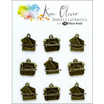 Ken Oliver - Metal Charms - Vintage Love Note and Typewriter
