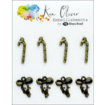 Ken Oliver - Metal Charms - Vintage Bow and Candy Cane