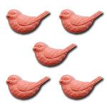Maya Road - Resin Nesting Birds - Coral