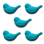 Maya Road - Resin Nesting Birds - Turquoise Sea