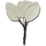 Ken Oliver - Maya Road - Vintage Paper Leaves - White