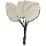 Ken Oliver - Maya Road - Vintage Paper Leaves - White