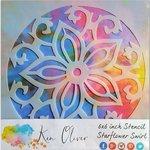 Ken Oliver - 6 x 6 Stencil - Starflower Swirl