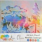 Ken Oliver - 6 x 6 Stencil - Mountain Landscape