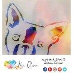 Ken Oliver - 12 x 12 Stencil - Boston Terrier