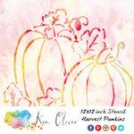 Ken Oliver - 12 x 12 Stencil - Harvest Pumpkins