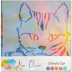 Ken Oliver - 12 x 12 Stencil - Colorful Cat
