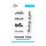 Pattern Happy - Clear Acrylic Stamps - Mini Greetings