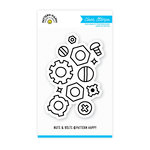 Pattern Happy - Clear Acrylic Stamps - Nuts and Bolts
