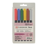 Kuretake - ZIG - Fudebiyori - Brush Marker - 6 Piece Set