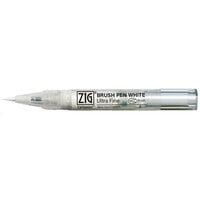 Kuretake - ZIG - Ultra Fine Cartoonist Brush Pen - White
