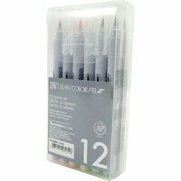Kuretake - ZIG - Clean Color - Brush Marker - 12 Piece Set - Bright