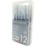 Kuretake - ZIG - Clean Color - Brush Marker - 12 Piece Set - Deep