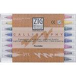 Kuretake - ZIG - Memory System - Dual Tip Calligraphy Marker - 8 Piece Set