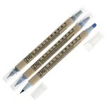 Kuretake - ZIG - Memory System - Dual Tip Journal and Title Marker - 3 Piece Set - Cool