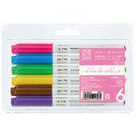 Kuretake - ZIG - Memory System - Wink Of Stella - Glitter Pen - 6 Piece Set