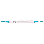 Kuretake - ZIG - Memory System - Dual Tip Scroll and Brush Marker - Baby Blue