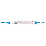 Kuretake - ZIG - Memory System - Dual Tip Scroll and Brush Marker - Blue Jay