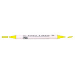 Kuretake - ZIG - Memory System - Dual Tip Scroll and Brush Marker - Pure Yellow