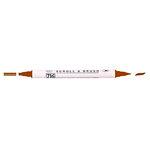 Kuretake - ZIG - Memory System - Dual Tip Scroll and Brush Marker - Pure Brown
