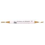 Kuretake - ZIG - Memory System - Dual Tip Scroll and Brush Marker - Wheat