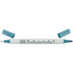Kuretake - ZIG - Memory System - Dual Tip Writer Marker - Teal