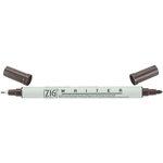 Kuretake - ZIG - Memory System - Dual Tip Writer Marker - Chocolate