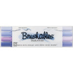 Kuretake - ZIG - Memory System - Dual Tip Brushables Marker - 4 Piece Set - Purple