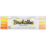 Kuretake - ZIG - Memory System - Dual Tip Brushables Marker - 4 Piece Set - Yellow