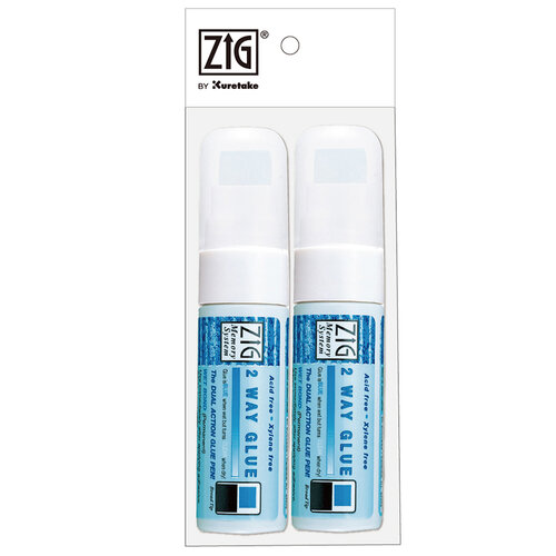 Kuretake - ZIG - Memory System - 2 Way Glue - Broad Tip - 2 Piece Set