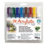 Kuretake - ZIG - Acrylista - Chisel Tip Marker - 8 Piece Set - Basic