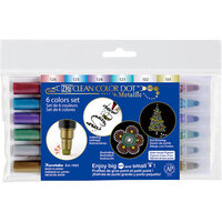 Kuretake - ZIG - Clean Color - Dot - Metallic 6 Color Set