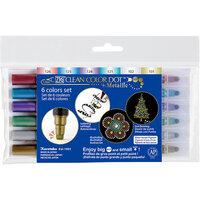 Kuretake - ZIG - Clean Color - Dot - Metallic 6 Color Set