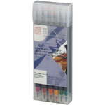 Kuretake - ZIG - Watercolor System - Twin Tip Art and Graphic Marker - 12 Piece Set - Deep
