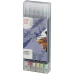 Kuretake - ZIG - Watercolor System - Twin Tip Art and Graphic Marker - 12 Piece Set - Pale