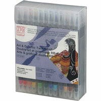 Kuretake - ZIG - Watercolor System - Twin Tip Art and Graphic Marker - 48 Piece Set
